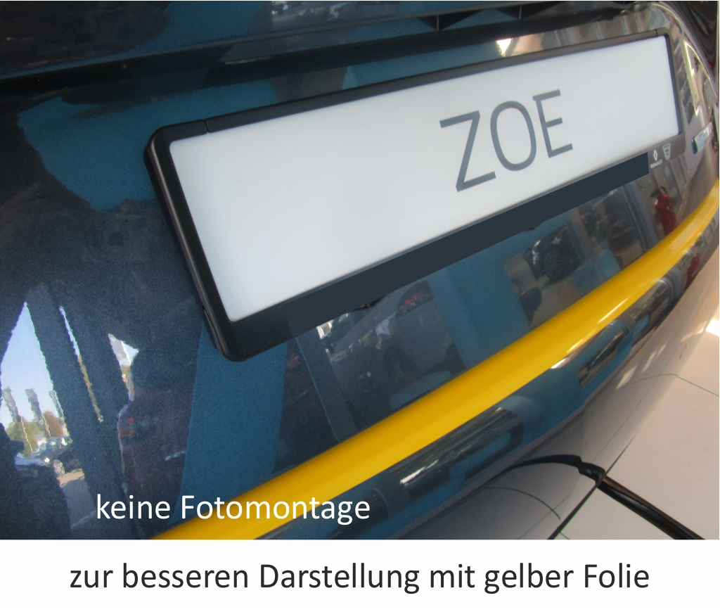Renault ZOE ab 2012 Lackschutzfolie Ladekantenschutz Folie Auto Schutzfolie